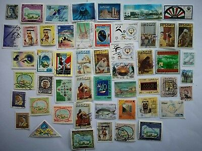 100 Different Kuwait Stamp Collection