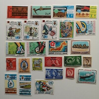 100 Different Qatar Stamp Collection