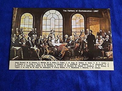 The 1867 Restaurant Advertising Vintage Postcard The Fathers Of Confederation
