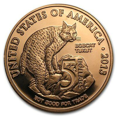 1 Unze Copper Round Native American Los Coyotes 999,99