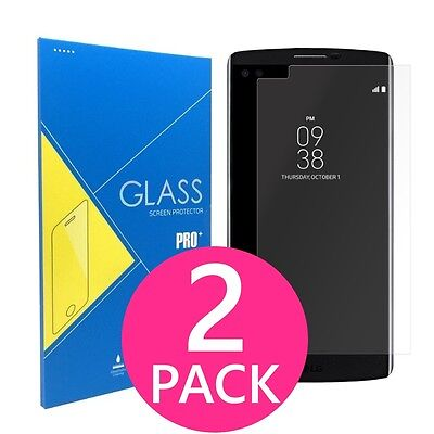 2X (2 Pack) Premium Clear Slim Tempered Glass Screen Protector Film for LG V10