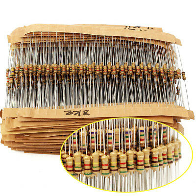 1500pcs 1/4W 75 Values Carbon Film Resistor Assorted kit (1 ohm ~ 10M ohm) 5%