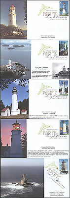 #4146-50 Pacific Lighthouses S & T FDC Set (15520074146-50001)