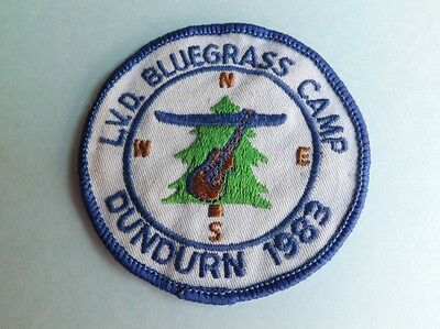 Boy Scouts Canada 1983  Blue Grass Camp Dundurin Badge Patch Ont Canada Violin