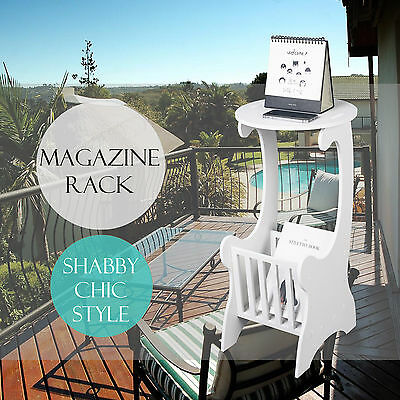 WPC Magazine Rack Newspaper Holder Shabby Chic Ornament for Balcony Bathroom Use