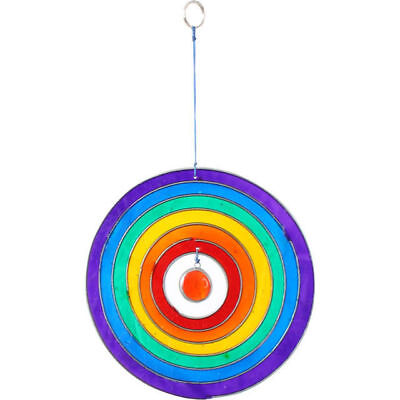 New Stained Glass Hanging Rainbow Circle Sun Catcher Decoration Sc_37625