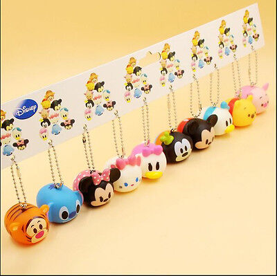 1 set 10 pcs tsum tsum DIY figures Bag Pendant strap Charms sounding toys Gifts