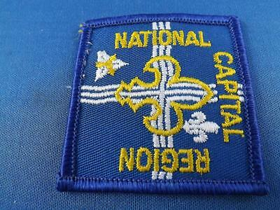 Boy Scouts Bsa Canada National Capital Region Vintage Patch