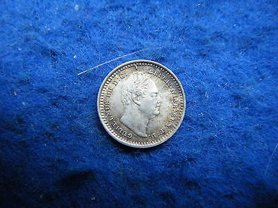 King William Iv: 1834 Silver Threehalfpence In Nice Condition!