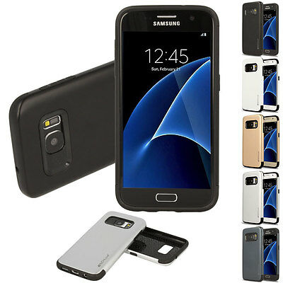 Samsung Galaxy S7 TOUGH ARMOURED Slim Fit Shock Proof Hard Protective Case Cover