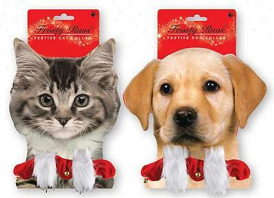 Festive Santa Cat and Dog Collars with Bell for your Pets Christmas Present