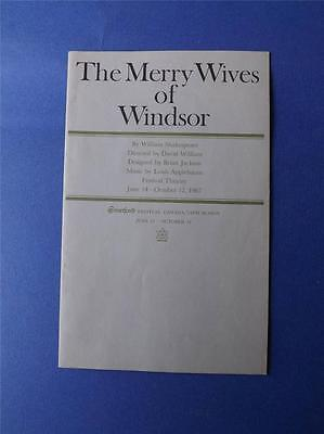 Stratford Festival Theatre Program The Merry Wives Of Windsor 15Th Season 1967