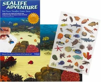 New Sea Life Adventure  Rub Down Transfer Activity Pack. Westair