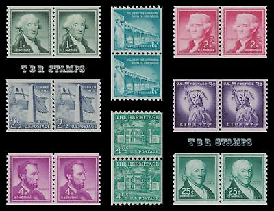 1054-59A 1054b 1059A Liberty Issue Pairs 1954-80 Complete Set of 8 MNH - Buy Now
