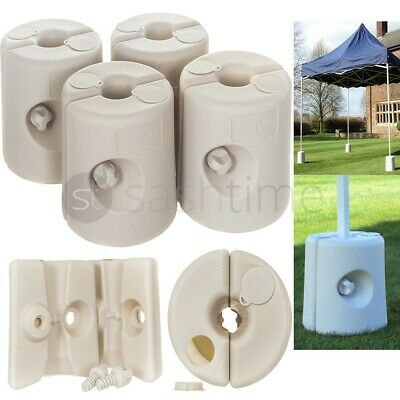 4Pc Gazebo Feet Leg Pole Anchor Tent Weights Marquee Market Stall Weighted Foot