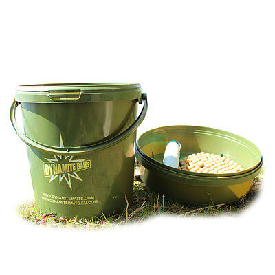 Dynamite Baits NEW Carp Fishing 10 Litre Green Carp Bait Bucket
