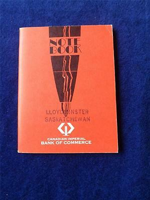 Cibc Canadian Imperial Bank Canada Notebook Vintage Advertise Saskatchewan 1969
