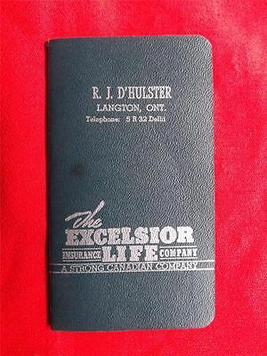 Excelsior Life Insurance Company Langton Ontario Canada Advertising Notebook
