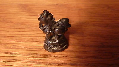 Vintage Burmese Solid Bronze Opium Scale Weight - Hintha Bird Figurine #5