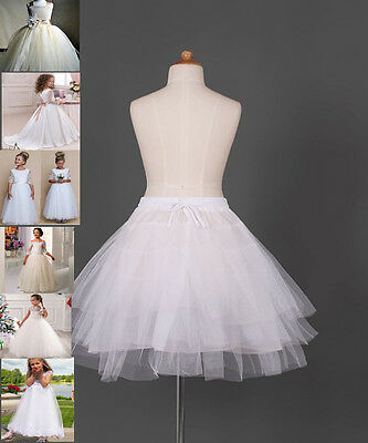 Flower Girl dress Children Underskirt Kid Wedding Crinoline Petticoat Size S M L