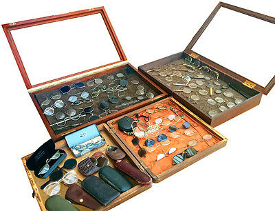 1790-1940  COLLECTION OF SPECTACLES - Rare Antique Eyeglasses - OPTIC HISTORY