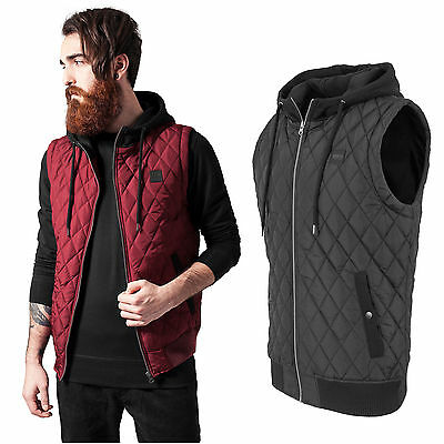 Urban Classics Gilet Uomo Diamante Cappuccio Trapuntato Giacca con TB1261