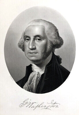 image about Printable Pictures of George Washington referred to as PRESIDENT GEORGE WASHINGTON Founding Dad ~ Antique 1877 Artwork Print Engraving