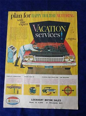 Lockhart Motor Sales St. Williams Ontario Canada Sales Service Brochure Cars