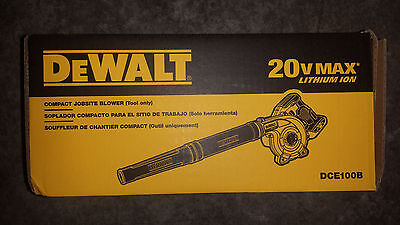 DeWALT DCE100 DCE100B 20V 20 volt Lith-Ion Cordless Compact Jobsite Blower New