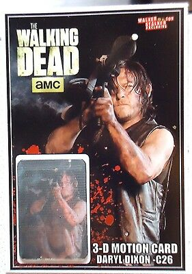 Walking Dead Daryl Dixon C26 3-D Motion Card Only 250 Produced