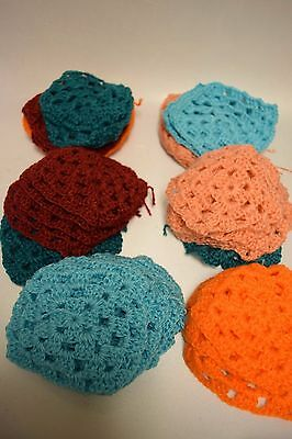 Lot Of 43 Handmade Granny Squares Different Colors