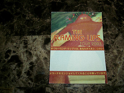 The Flaming Lips Rare 2003 Yoshimi Battles Tour Cloth Backstage VIP Pass Sticker