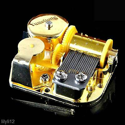 18 Note Mechanical DIY Windup Music Box Movement+Screws+Knob For Canon Melody