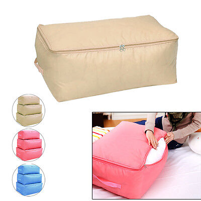 Fashion Blanket Boxes Foldable Storage Bag Clothes Quilt Sweater Organizer Pouch