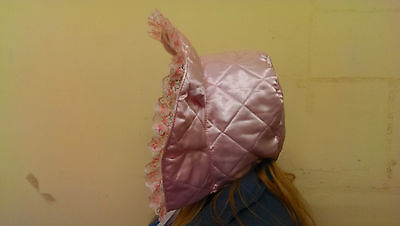 Adult Baby- Sissy-Victorian Frilly Bonnet