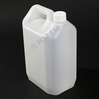 New 8 x 5L Litre 1 Gallon Plastic Jerry Can Water Container Carrier Bottle 25 L