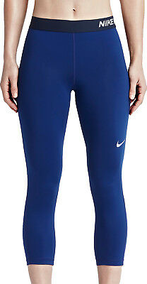 Nike Pro Cool Compression Capri Ladies Running Tights - Blue