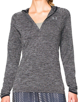 Under Armour Tech Long Sleeve Ladies Running Hoody - Black