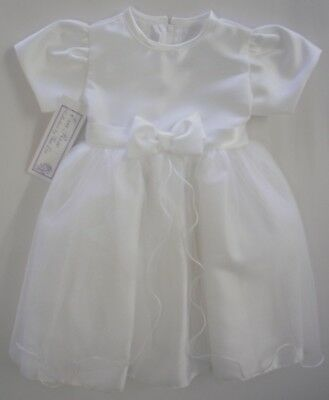 Baby Babies Clothes Girls Christening Party Bridesmaid Gown Dress White Bow