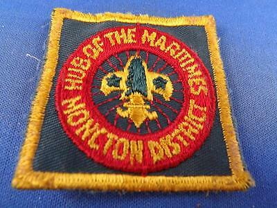 Boy Scouts Bsa Canada Moncton District Hub Of The Maritimes Vintage Patch