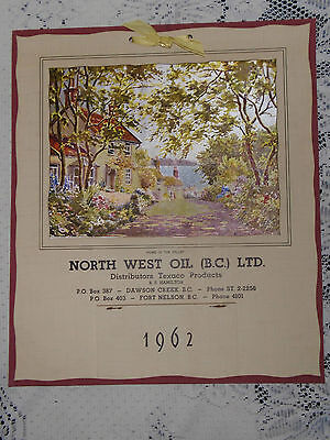 Vintage Calendar NORTH WEST OIL BC Texaco Products Dawson Creek Fort Nelson 1962