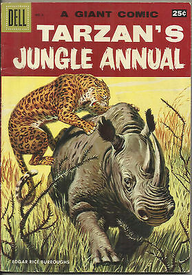 TARZAN'S Jungle Annual #6 Dell Giant Comic 1957 FN