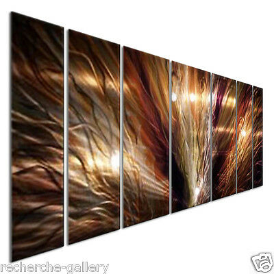 Abstract Metal Wall Art Large ZION by Artist Ash Carl Modern Home Décor