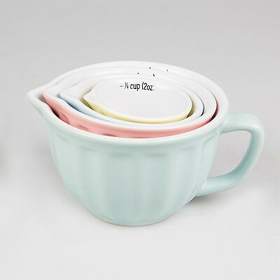 Sass and Belle set of Four ceramic measuring cups - Four Colours