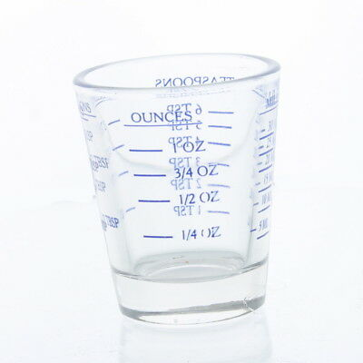 Multi-Purpose Measuring Shot Glass Jigger Shot Bar Tool Oz Tsp Tbsp Ml