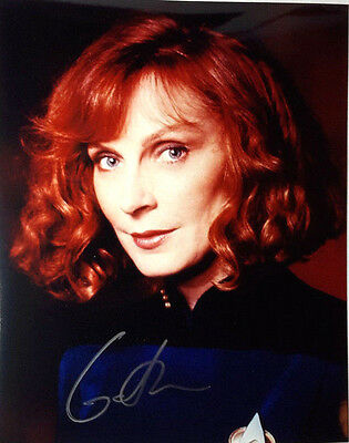 Star Trek NG Autograph 8x10 Photo Signed by Gates McFadden as Crusher (LHAU-497)
