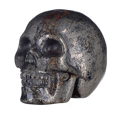 """Wholesale 1.3"""" Natural Copper Pyrite crystal skull carving"""