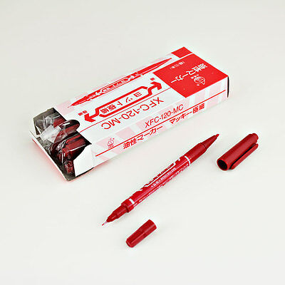 NEW 10x Red Color Skin Tattoo Body Piercing Marking Pen Marker Dual-tip Supply