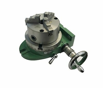 "Rdgtools New 150Mm / 6"" Rotary Table Green With 3 Jaw 125Mm Lathe Chuck"