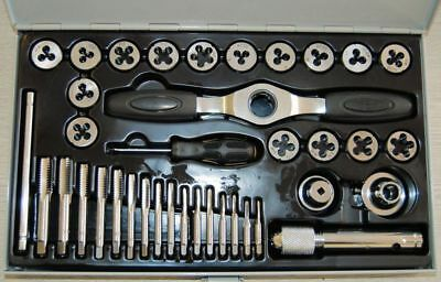 38 PC Ratcheting Tap & Die Set UNC METRIC 10108115 Threading Tools Latest Design